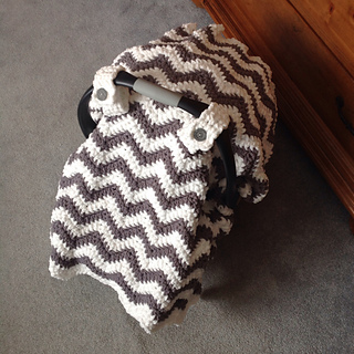 Chevron Car Seat Cover Crochet Pattern