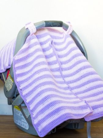 Crochet Baby Car Seat Cover