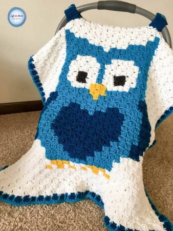Crochet Owl Car Seat Cover