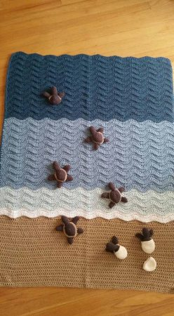 Crochet Sea Turtle Blanket Instructions