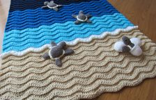 Crochet sea turtle blanket patterns
