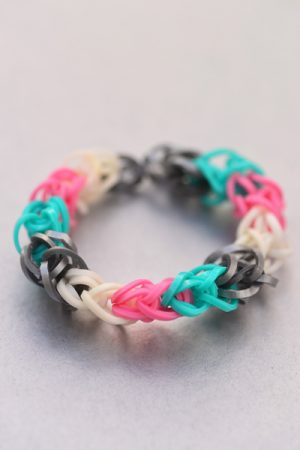 Diamond Pattern Loom Bracelet