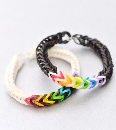 Double Band Fishtail Bracelet Rainbow Loom