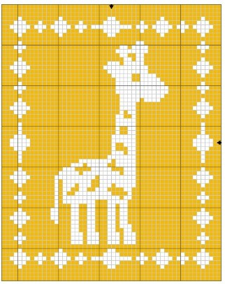 Giraffe Crochet Blanket Diagram