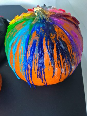 How to Melt Crayons on a Pumpkin