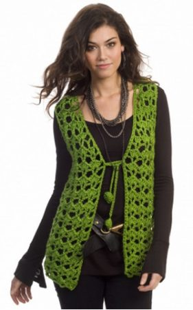 Long Crochet Vest Pattern