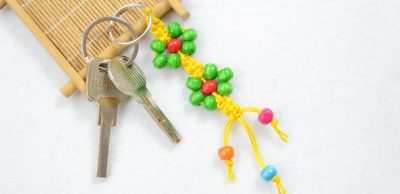 Macramé Keychain with Beads