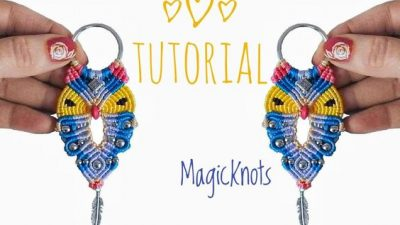 Macrame Keychain Instructions