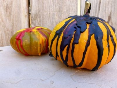 Melted Crayon Pumpkin Tutorial