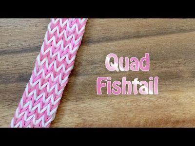 Quadruple Fish Tail Bracelet Rainbow Loom