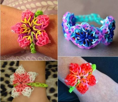 Rainbow Loom Hibiscus Flower Pattern