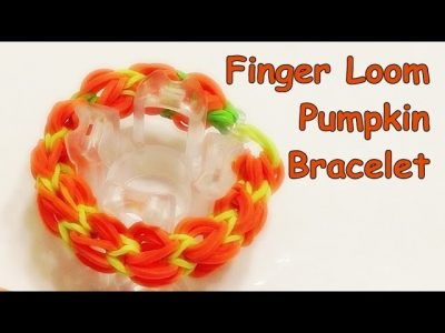 how to make a rainbow loom pumpkin bracelet