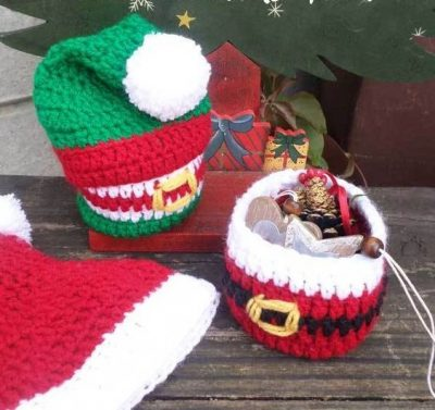 Crochet Gift Baskets for Christmas