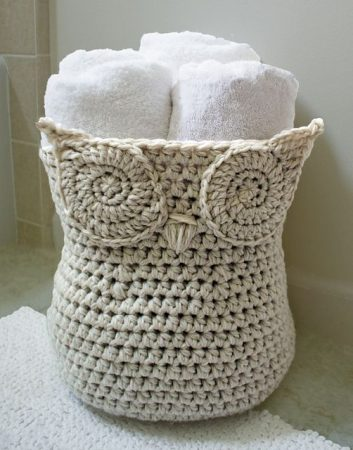 Crochet Owl Basket Pattern
