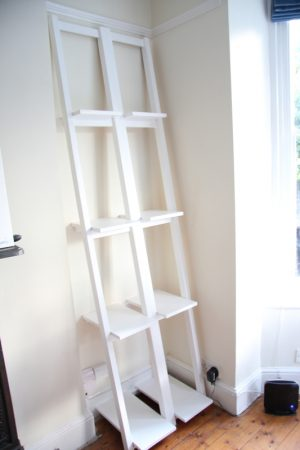 DIY Slanted Bookshelf