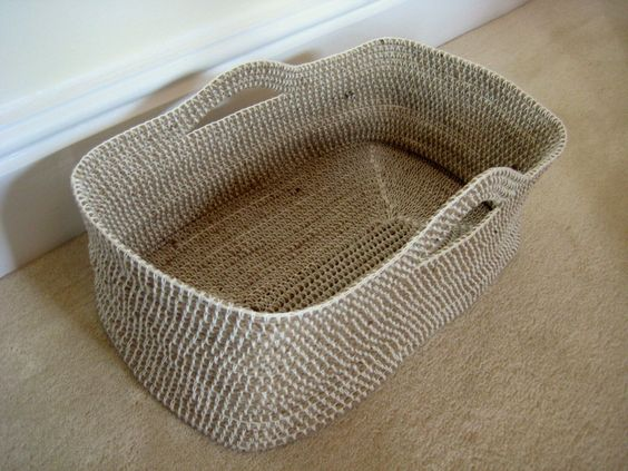 Free Crochet Rope Basket Pattern