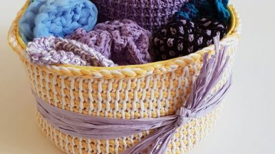 Free Tunisian Crochet Basket Pattern