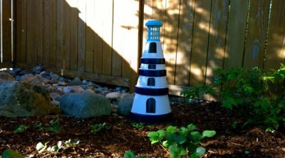 How to Make Lighthouse from Clay Pots