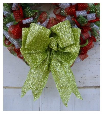 How to Make a Big Wreath Bow