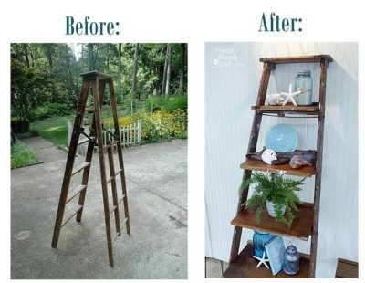 How to Make a Corner Ladder Bookshelf