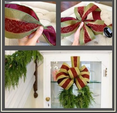 How to Make a Large Bow for a Wreath
