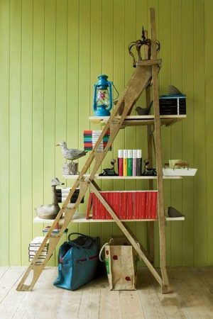 How to Turn a Ladder into Bookshelf