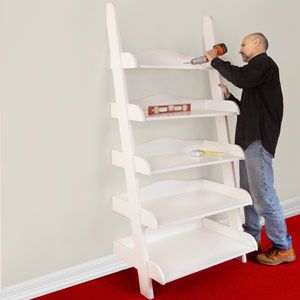 Ladder Bookcase DIY