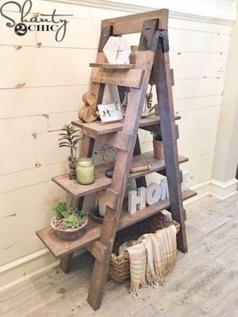 Ladder Bookcase Shelf