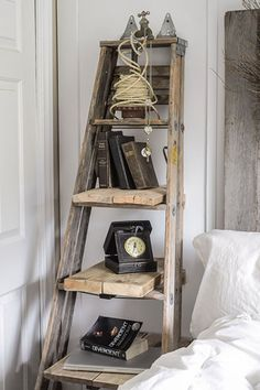 Narrow Ladder Bookshelf