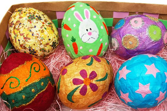 DIY Paper Mache Balloon Eggs