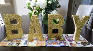 Decorated Paper Mache Letter