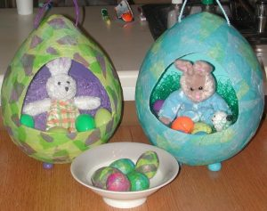 Decorating Paper Mache Eggs
