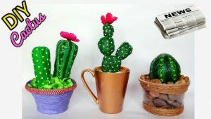 How to Make Paper Mache Cactus