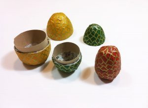 Paper Mache Egg Containers