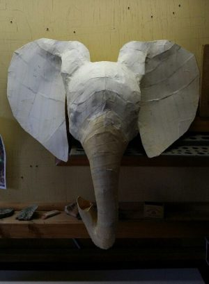 Paper Mache an Elephant Head