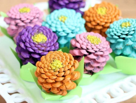22 Diy Pine Cone Flowers Craft Ideas Ideas For Diy