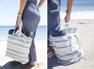 FLat Bottom Beach Bag