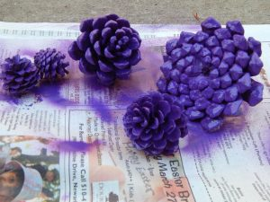 Flowers Made from Pine Cone