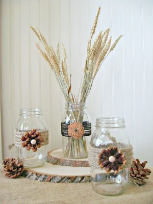 How to Make Pine Cone Flowers