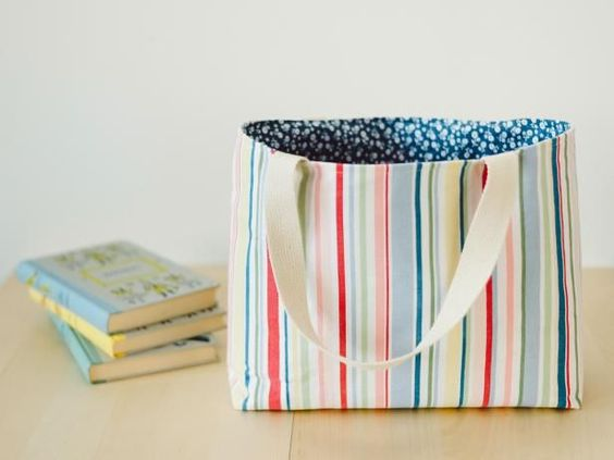 How to Sew Flat Bottom Tote Bag