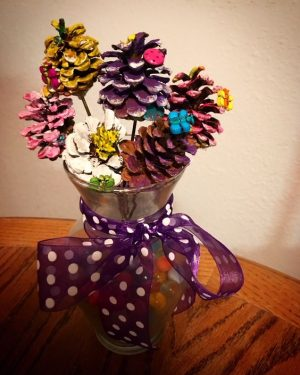 Pine Cone Flower Bouquet