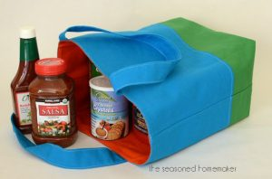 Tote Bag with Boxed Corners