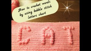 Crochet Bobble Letters Pattern