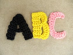 Crochet Monogram Letters Tutorial