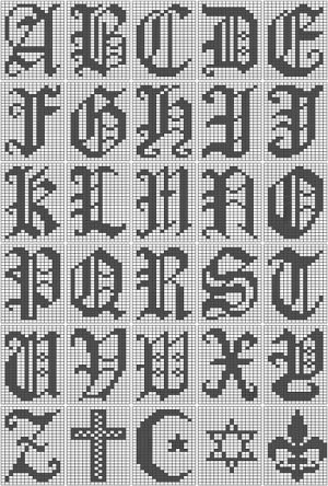 Filet Crochet Letters Alphabet