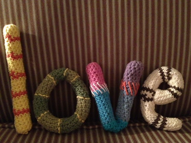 Caron ABC's & 123's Crochet Pillows, Letter A | Yarnspirations | 480x640