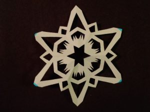 6 Sided Paper Snowflake