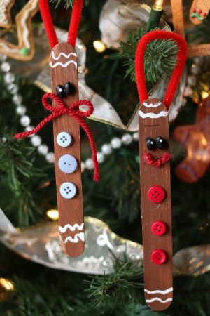 Christmas Ornaments Made with Popsicle Sticks