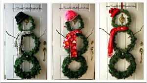 Christmas Snowman Wreath