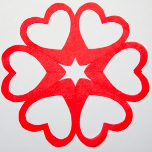 Cut a Heart Snowflake